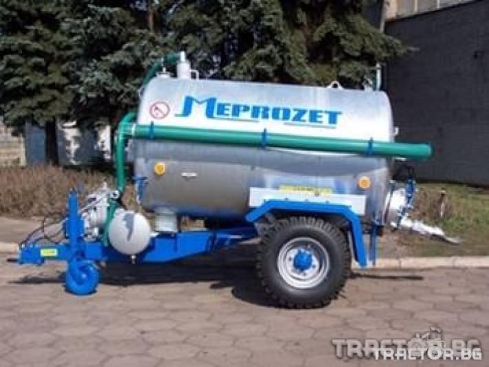 Ремаркета и цистерни Цистерна за течен тор Meprozet 1 - Трактор БГ