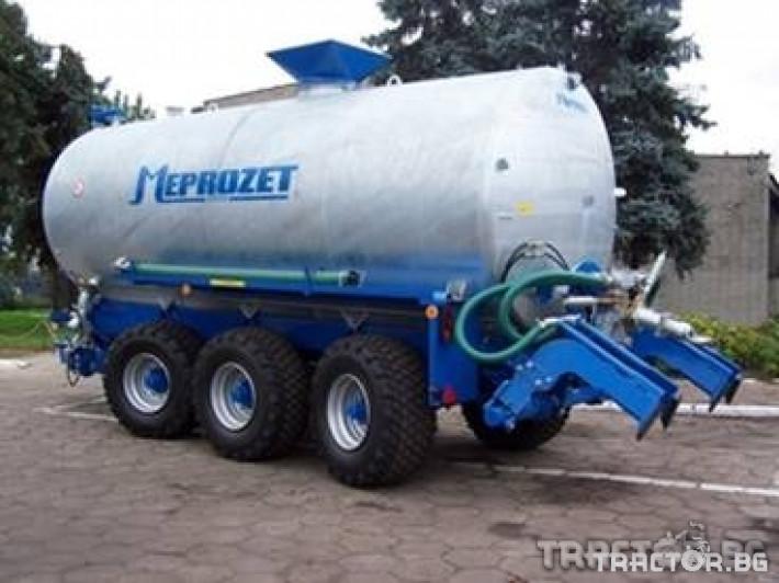 Ремаркета и цистерни Цистерна за течен тор Meprozet 4 - Трактор БГ