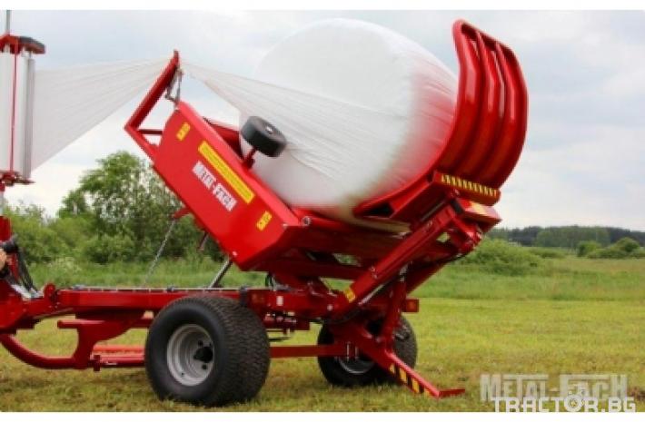 Сламопреси Прикачна машина за обмотаване на рулони Metal-Fach, Z-593 0 - Трактор БГ