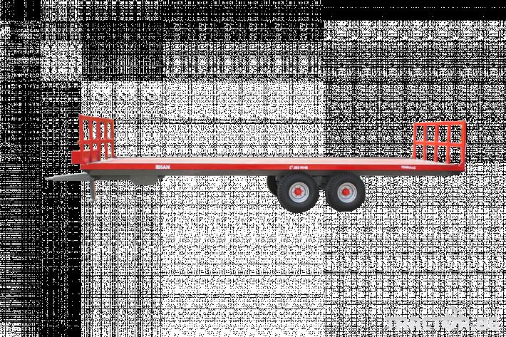 Ремаркета и цистерни Платформа (ремарке) за превоз на бали, марка Essan 0