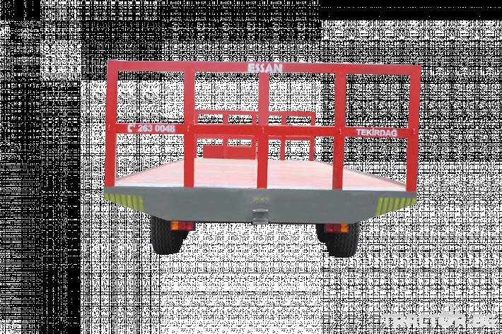 Ремаркета и цистерни Платформа (ремарке) за превоз на бали, марка Essan 2