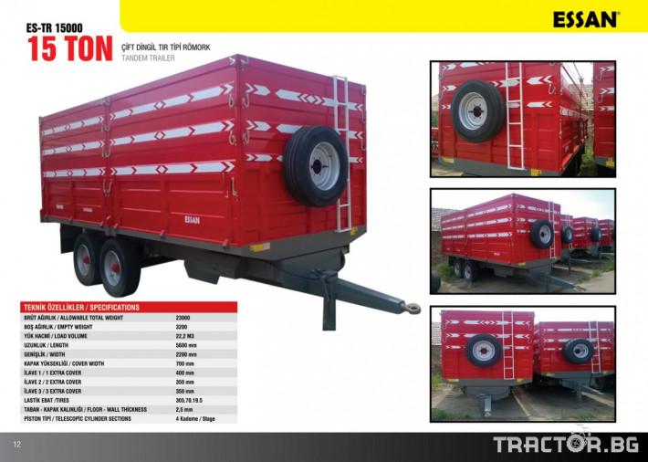Ремаркета и цистерни Двуосно тандемно ремарке, марка Essan, модел ES-TR 15000 0 - Трактор БГ