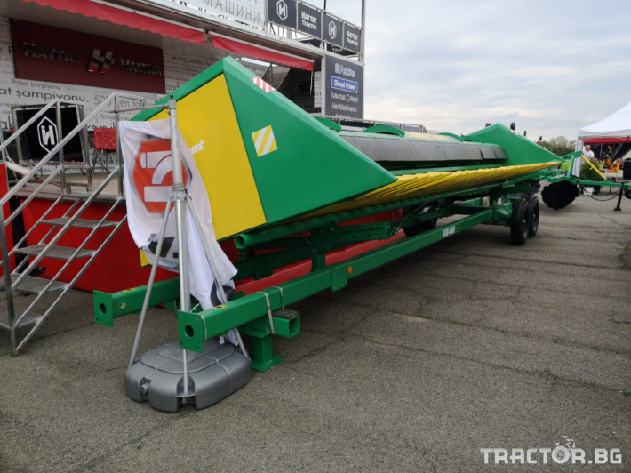 Хедери за жътва Безредови адаптер за слънчоглед УСМ(Украйна) модел Sun Plant - 7.4 6 - Трактор БГ